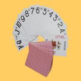Qualitäts-kardiert schwarzes Hülsenpapier-Kasino kundenspezifische Spielkarten
