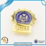 Insigne mol d'émail de Pin de double de placage d'étoile revers de médaille