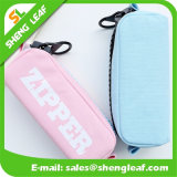 Venta caliente de la pluma bolsa con cremallera de diferentes colores (SLF-PB007)