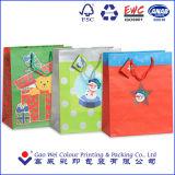 2016の習慣のロゴによって印刷されるクリスマスのギフトの紙袋