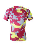 圧縮は越えるワイシャツの連続したトレーニングのボディービルの不足分の袖(AKJSY-2015018)を