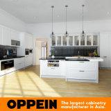 Keukenkasten van de Esdoorn van de Luxe van Oppein de Traditionele Witte Stevige Houten (OP16-S03)