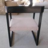Cadeira de madeira da mobília nova do repouso do projeto com assento da tela
