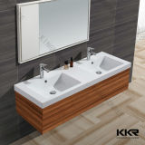 Popular Branco Matt Bathroom Wall Hung superfície contínua Basin