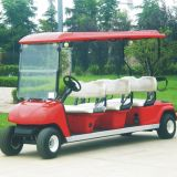 Carro elétrico do golfe da aprovaçã0 48V 6 Seater Marshell do CE (Dg-C6)