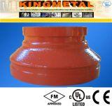 ASTM-A536 garnitures concentriques Grooved de réducteur de fer malléable de 300 LPC