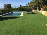 Herbe artificielle synthétique de décoration Anti-UV d'horizontal pour le jardin