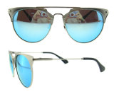 2016 Ojo de metal italiana Diseño del gato gafas de sol polarizadas para la Mujer