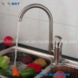 Colpetto di miscelatore d'ottone del rubinetto della cucina del dispersore del singolo foro di disegno moderno