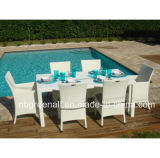 Outdoor Poly Rattan Wicker Table Setting