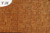2016년 셔닐 실은 브라운 소파 직물 가구 직물에서 만들어 돋을새김했다