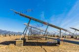 傾けられた単一の軸線連結太陽追跡者