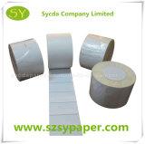 escritura de la etiqueta auta-adhesivo termal 60g para la etiqueta engomada del código de barras del precio
