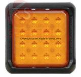 트럭 및 트레일러를 위한 ECE에 의하여 승인되는 사각 LED 회전 빛 2 년 보장, 짧은 배달 시간 및 작은 MOQ