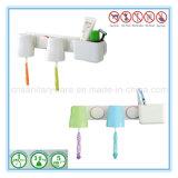 Suporte plástico dobro do Toothbrush do copo com dentífrico para o dia-a-dia