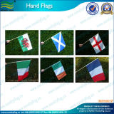 Bandierina della mano del paese del poliestere di formato standard di alta qualità (NF01F02022)