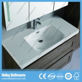 LEDの接触スイッチ新しい現代木製のカシの浴室のキャビネットの単位デザイン新式のホテルの家具(BF117M)