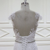 Vestidos nupciais da sereia francesa do laço