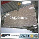 Pietra naturale di colore rosa della pesca del granito G687 per il controsoffitto della cucina con la parte superiore della barra