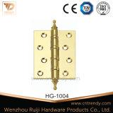 문 부속품 문 가구 (HG-1004)를 위한 Polished 금관 악기 개머리판쇠 경첩