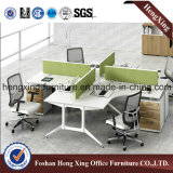 4つのシートBest Price 4melamine Office Partition /Workstation (HX-6M207)