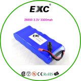 Exc26650 3.3V 3300mAh LiFePO4 célula 2s3p 6,6 V 9900mAh paquete de baterías