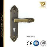 Serratura di portello della maniglia di portello dello zinco, maniglia di leva sulla piastra di appoggio del cilindro