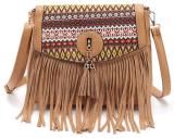 Saco de ombro transversal do saco para o transporte de cadáveres dos Tassels étnicos europeus novos do estilo