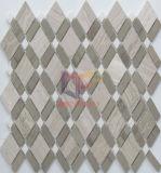 크림 Rhomb 대리석 모자이크 바닥 도와 (CFS1086)를 가진 어두운 Emperador