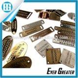 Disegno su ordinazione di marchio del metallo, piatto di marchio del metallo della borsa, marchio su ordinazione del metallo per le borse