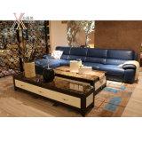 Pelle blu Modern Living Room Divano con angolo (1623A)