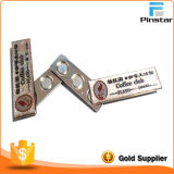 Alloy de aluminio Badges Staff Card Orden Insert Paper Replaceable Nag, Pin, Magnet Wear un Glue Badges