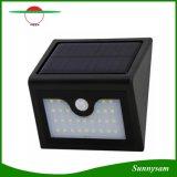 현관, 발코니를 꾸미는 최신 모형 1W 최고 밝은 28의 LED 태양 벽 빛 옥외 무선 잘 고정된 램프