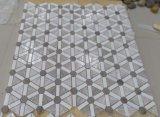 Mosaico laminado fino Polished do mármore branco de Volakas