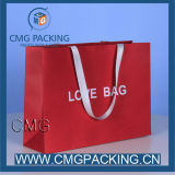 Farbe Red Paper Bag mit Printing/Foil/Gold Hot Stamping Logo