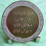 Moeda nacional Sandblasted da força do ouro