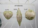 Sfere di carta dell'albero della decorazione di natale di Mache, -3asst