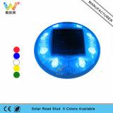 Blauer LED-blinkender reflektierender runder Plastiksolarstraßen-Stift