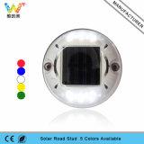 Azul LED parpadeante redondo reflexivo solar plástico del Camino Stud