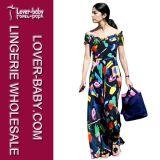 Frauen-Dame-Kleid des Großverkauf-2016 beiläufiges Maxi (L51330)