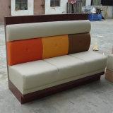 Sofá de madera de cuero superventas con nuevo diseño
