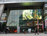 Exhibición de pared de cristal de interior transparente del edificio de la pantalla de visualización de LED P10