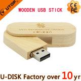 カスタムレーザーのロゴは促進する木USB Pendrive (YT-8106)を