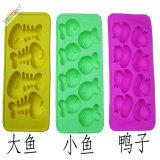 La catégorie comestible BPA de mini modèle mignon libèrent le plateau de glaçon de silicones