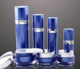 Botella privada de aire de la loción del tarro poner crema de acrílico azul de Set1 PP para el empaquetado del cosmético (PPC-CPS-051)