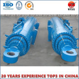 Cylindre hydraulique télescopique à longue course pour l'industrie