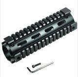 """Trilho do quadrilátero Handguard Picatinny do comprimento 6.7 do Carbine de """" - preto"""