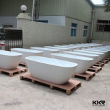 Vasca da bagno diritta libera della superficie solida di Corian della mobilia della stanza da bagno