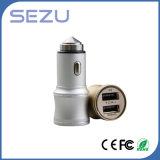 2 in 1 caricatore portatile doppio dell'automobile del USB con il martello di sicurezza del metallo per il iPhone e Samsung