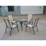(6) 의자 (FS-1101 + FS-5112)와 야외 정원 파티오 가구 식사